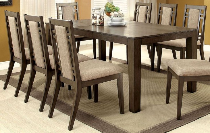 Eris I Weathered Gray Extendable Rectangular Dining Table
