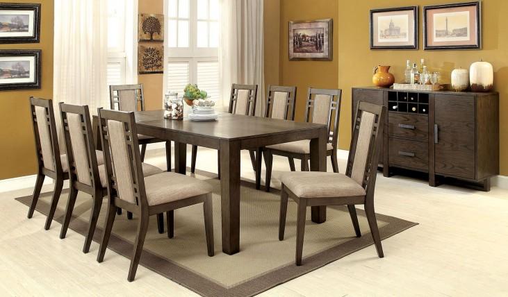 Eris I Weathered Gray Extendable Rectangular Dining Room Set