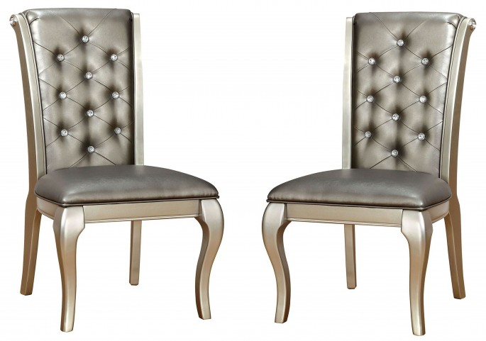Amina Silver Side Chair Set Of 2