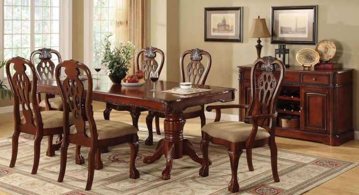 George Town Rectangular Double Pedestal Formal Dining Room Set