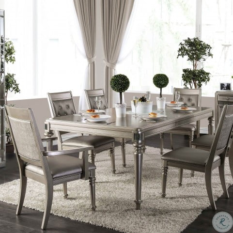 Xandra Champagne Extendable Dining Table