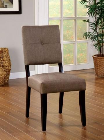 Bay Side I Espresso Fabric Side Chair Set of 2