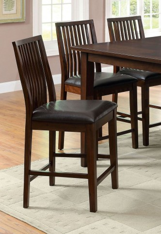 Reyes II Walnut Counter Height Chair Set of 2