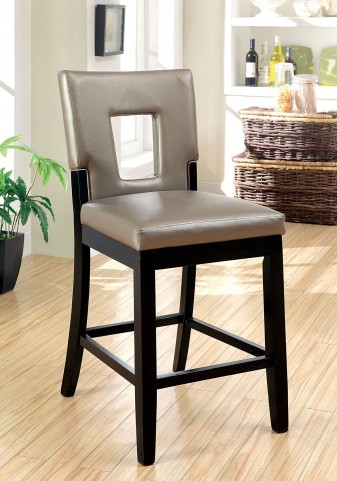 Evant II Leatherette Counter Height Chair Set of 2
