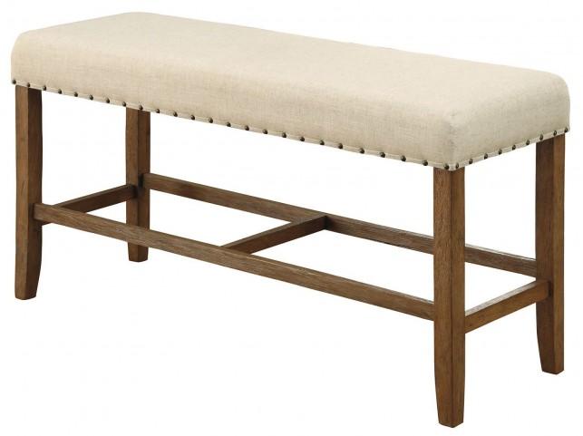 Sania Natural Tone Counter Height Bench