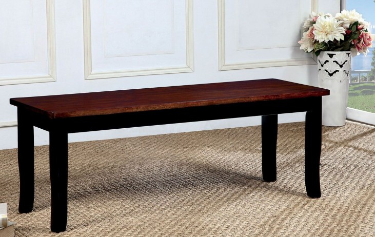 Dover Black and Cherry Bench