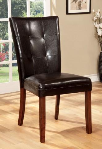 Elmore Antique Oak Leatherette Side Chair Set of 2