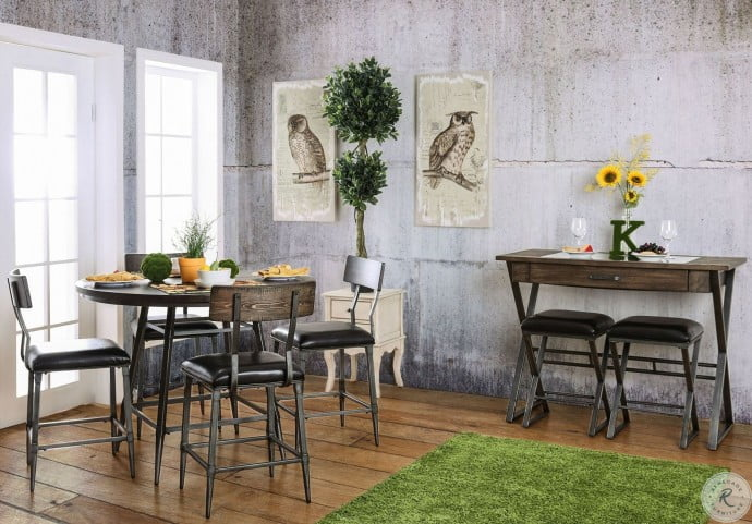 Mullane Weathered Gray Counter Height Dining Room Set