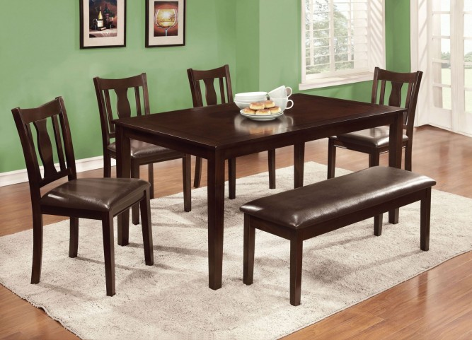 Northvale II 6 Piece Dining Table Set With Bench