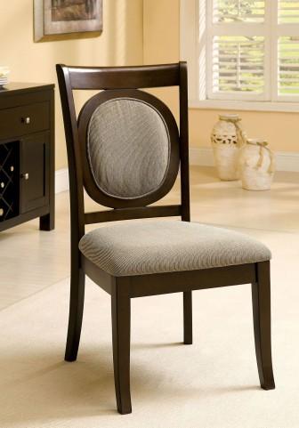 Evelyn Walnut Side Chair Set of 2