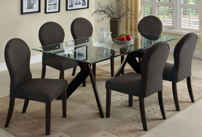 Grand View I Glass Top Dining Room Set