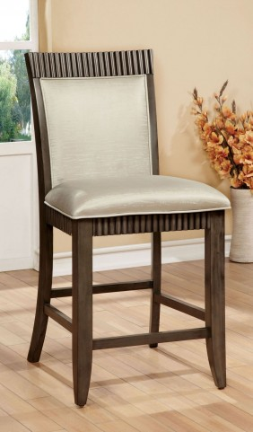 Forbes II Gray Leatherette Counter Height Chair Set of 2