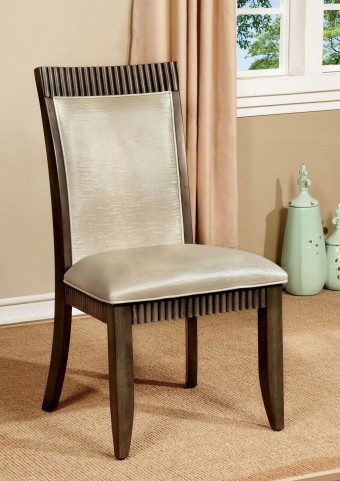 Forbes I Gray Leatherette Side Chair Set of 2