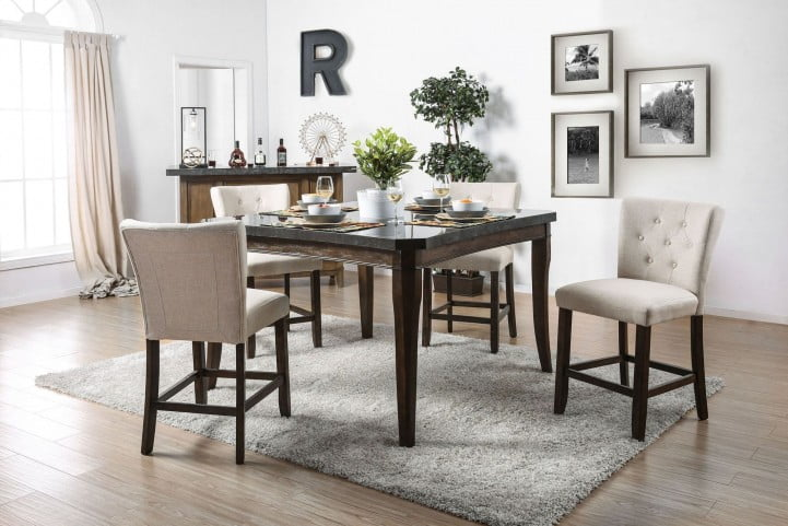 5045b165dd Schoten Rose Gold Counter Height Dining Room Set from Furniture of America  | Furniture ETC.com | Furniture of America