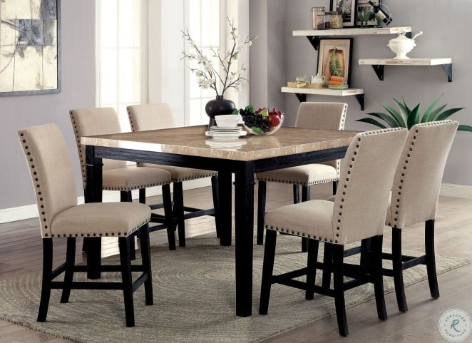 Dodson II Black Counter Height Dining Room Set
