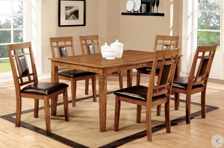 freemans dining room | Freeman I Light Oak 7 Piece Dining Room Set from Furniture ...