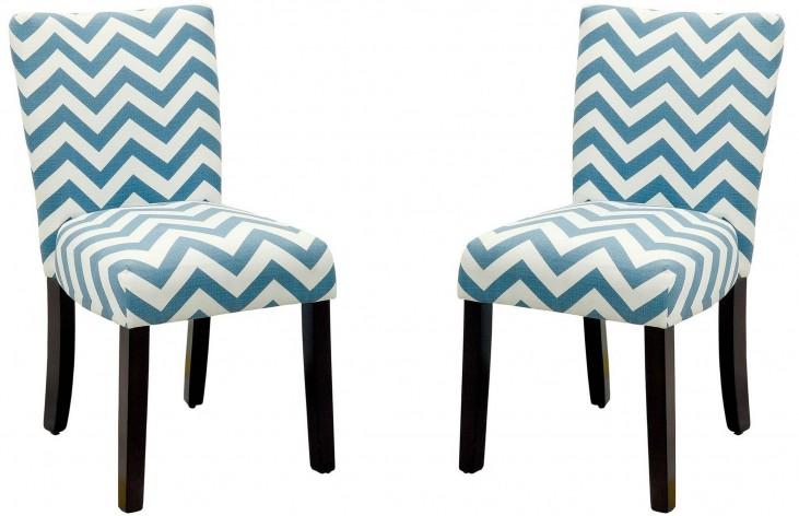 Capri III Blue Side Chair Set of 2