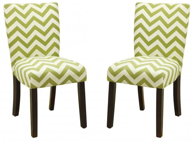 Capri III Green Side Chair Set of 2