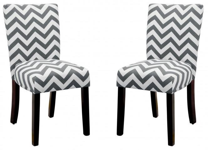 Capri III Gray Side Chair Set of 2