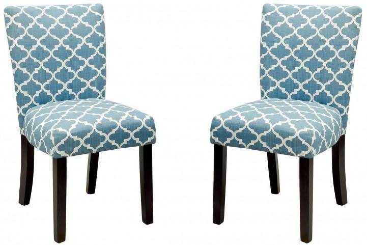 Capri I Blue Side Chair Set of 2