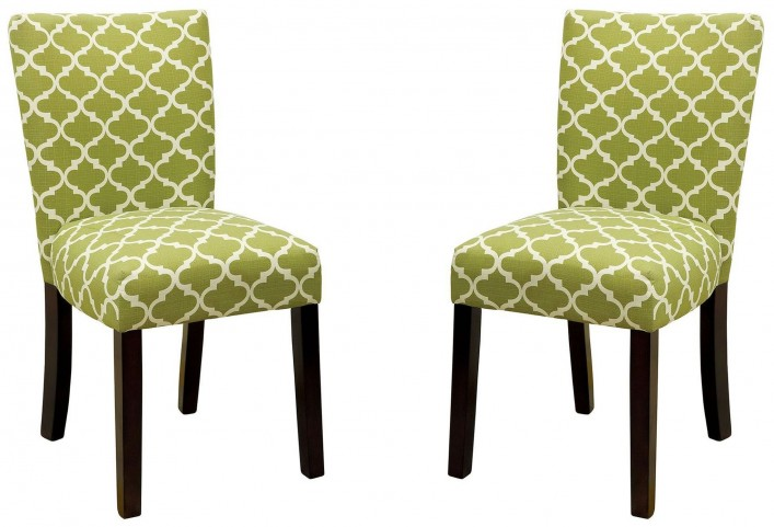 Capri I Green Side Chair Set of 2