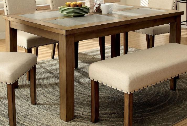 Melston I Stone Rectangular Leg Dining Table