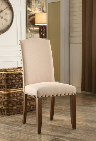 Brentford Flax Fabric Side Chair Set Of 2