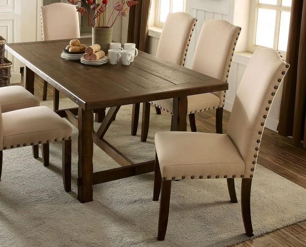 Brentford Rustic Walnut Rectangular Dining Table