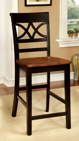 Torrington II Black and Cherry Counter Height Chair Set of 2
