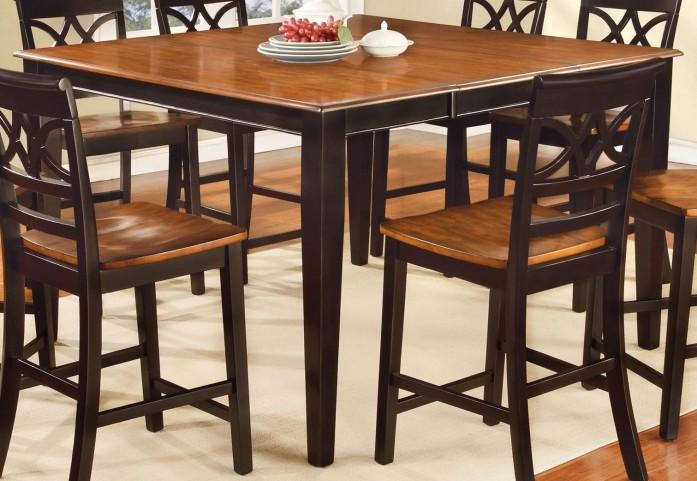 Torrington II Black and Cherry Square Counter Height Leg Table