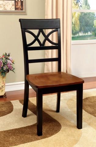 Torrington Black and Cherry Side Chair Set of 2