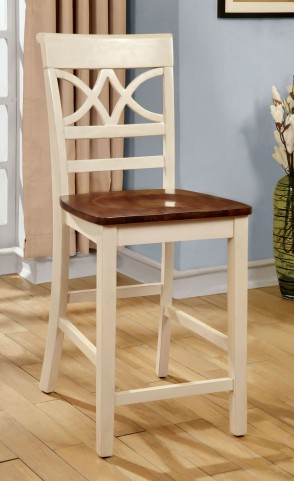 Torrington II White and Cherry Counter Height Chair Set of 2