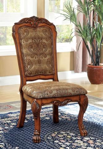Medieve Antique Oak Side Chair Set of 2