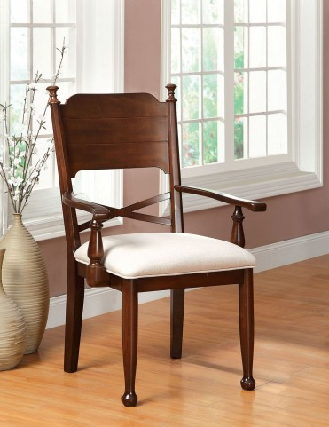 Descanso Brown Cherry Arm Chair Set of 2