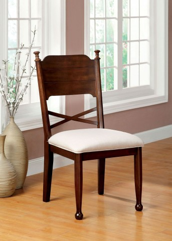 Descanso Brown Cherry Side Chair Set of 2