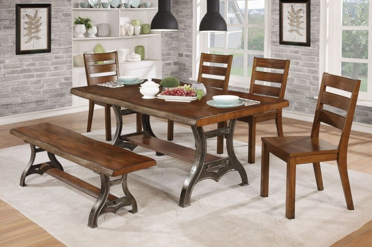 04e48df5c9ec Leann Brown Cherry Dining Room Set from Furniture of America ...