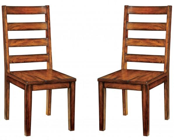 Maddison Tobacco Oak Side Chair Set Of 2
