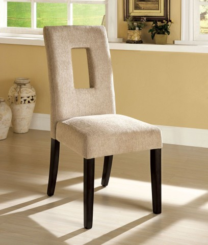 West Palm I Espresso Side Chair Set of 2