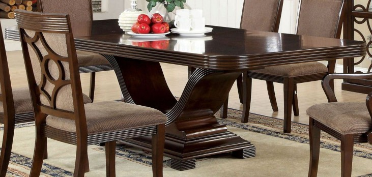 Woodmont Walnut Rectangular Trestle Dining Table