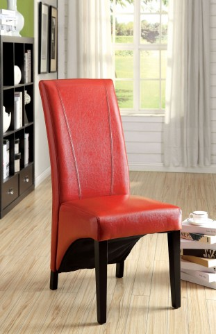 Madison Red Leatherette Side Chair Set of 2