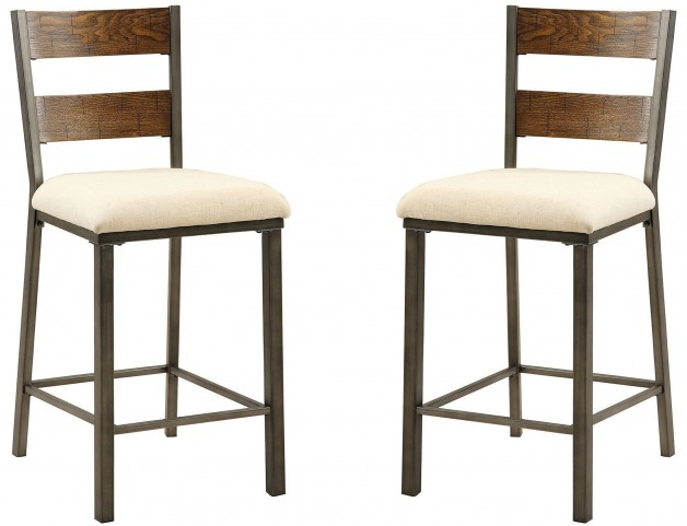 Jazlyn II Weathered Oak Counter Height Chair Set Of 2