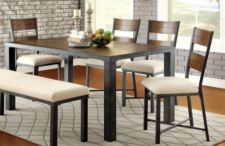 Jazlyn I Weathered Oak Rectangular Dining Table
