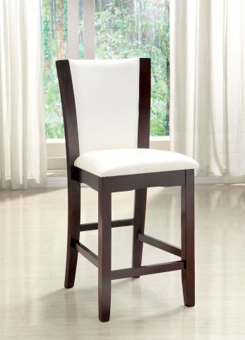 Manhattan III White Counter Height Chair Set of 2
