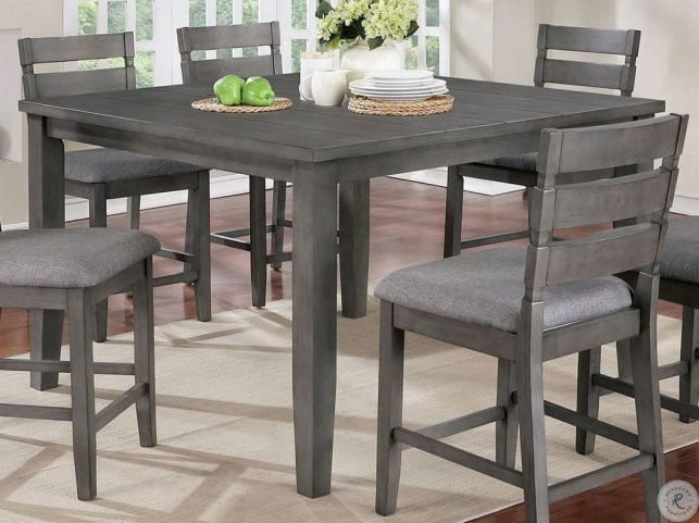 Viana Gray Counter Height Dining Table from Furniture of ...