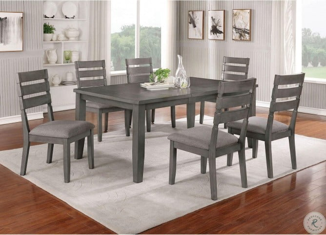 Viana Gray And Light Gray Extendable Dining Room Set From Furniture Of America Coleman Furniture