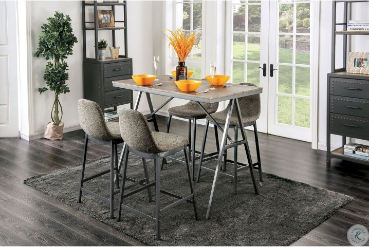 Sensational Brant Gray Counter Height Side Chair Set Of 4 Creativecarmelina Interior Chair Design Creativecarmelinacom