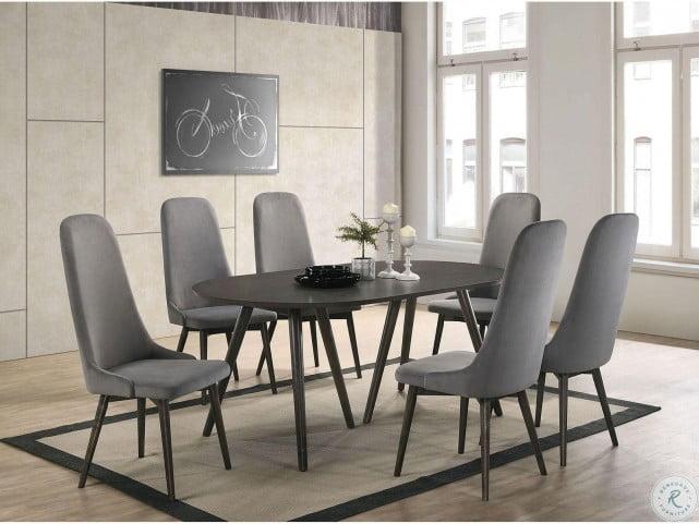Aniya I Dark Gray Dining Room Set From Furniture Of America Coleman Furniture