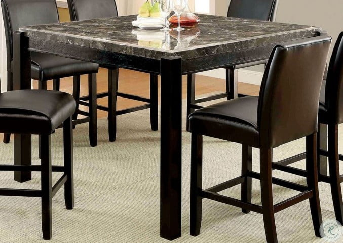 Enjoyable Gladstone I Gray Marble Top Counter Height Dining Table Customarchery Wood Chair Design Ideas Customarcherynet
