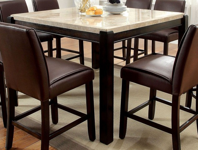 Gladstone II Marble Top Counter Height Table