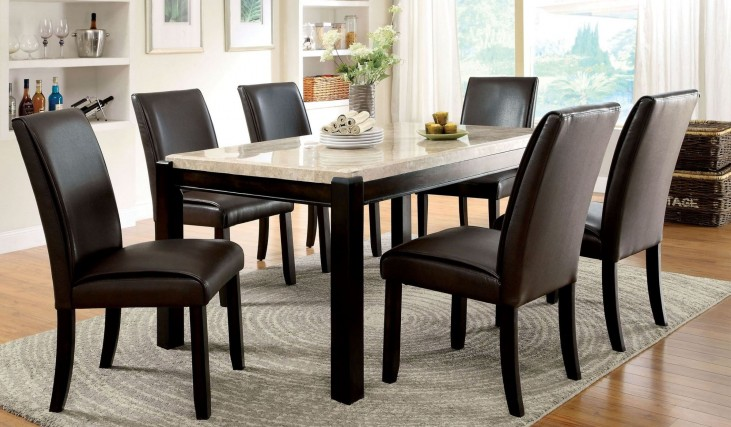 Gladstone I China Marble Table Top Dining Room Set